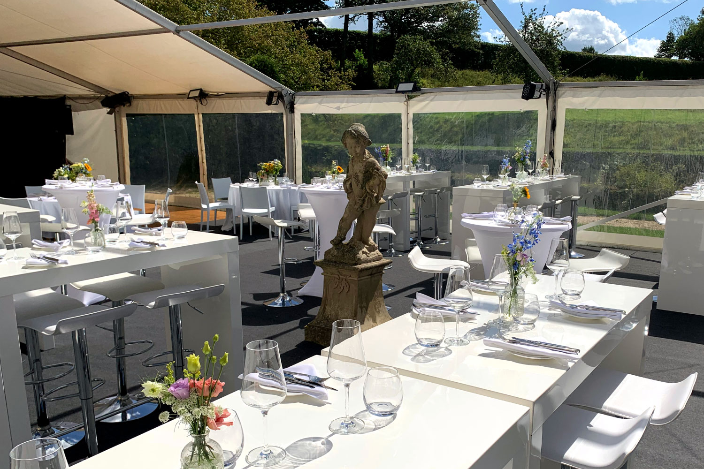 Hochzeit im Zelt Garten