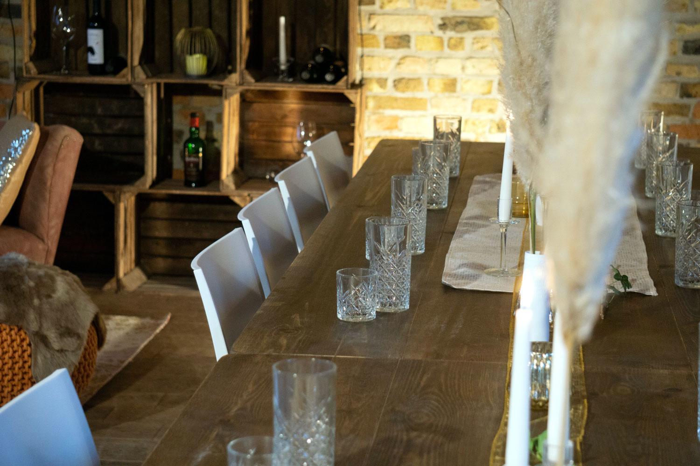 Rustikalen Holztisch Hochzeit mieten