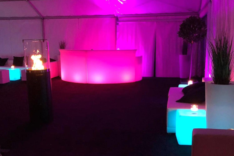 LED Bar mieten Hochzeit Zelt