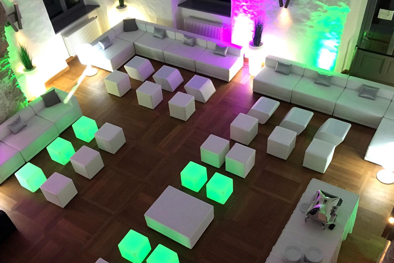 LED Lounge Hochzeit mieten
