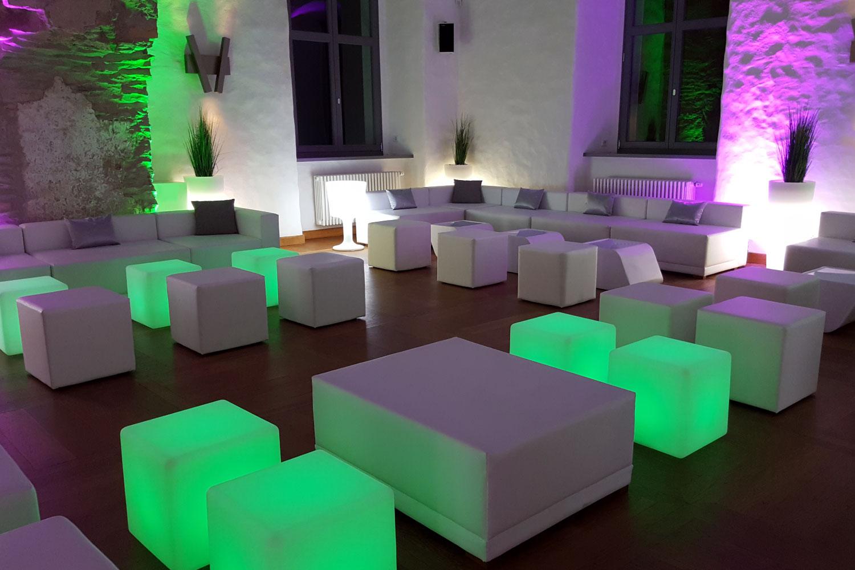 LED Lounge Hochzeitsfeier