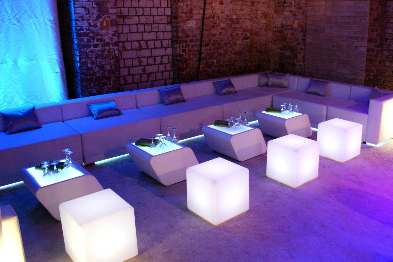 LED Lounge Würfel mieten