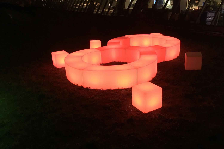 LED Möbel Garten mieten