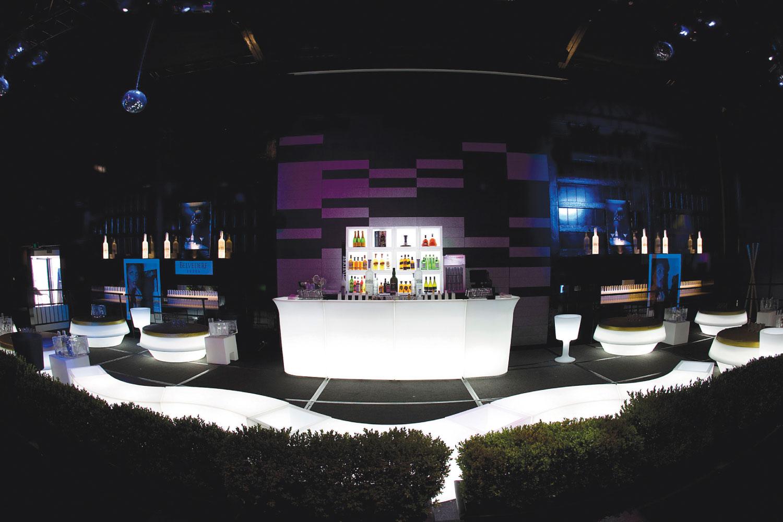 LED Möbel Hochzeit