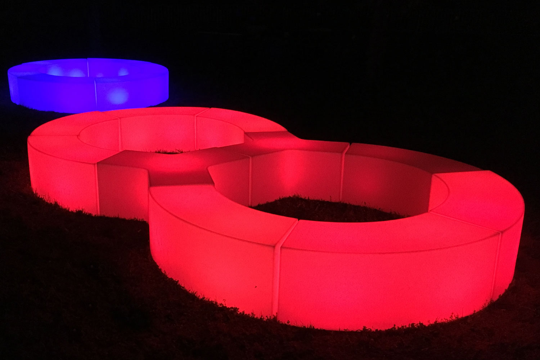 LED Sitzbank Snake