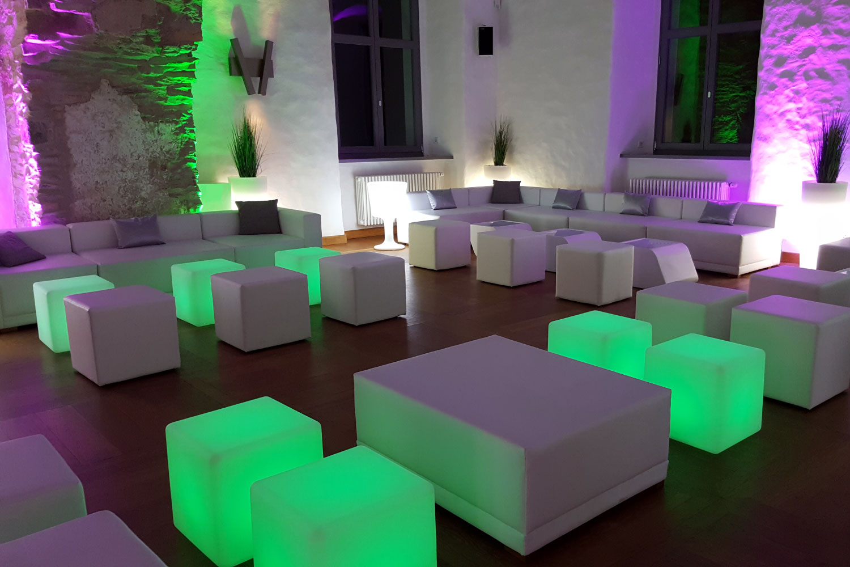 LED Würfel Hochzeit