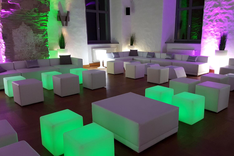 Thema Hochzeit LED modern